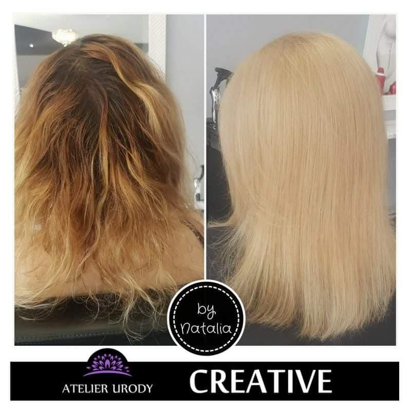 Koloryzacja przed i po