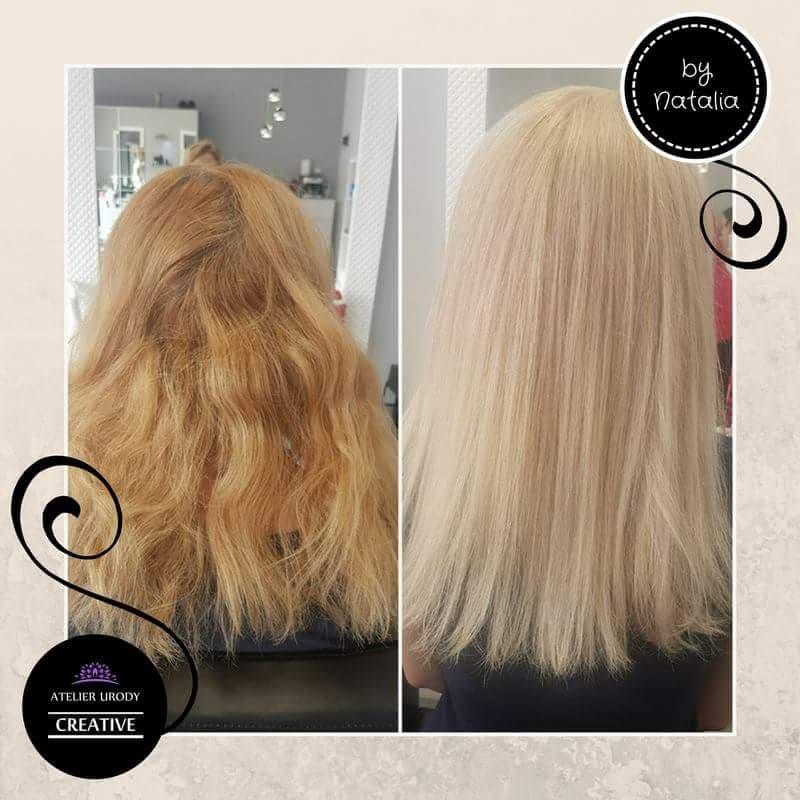 Baleyage i keratynowe prostowanie włosów