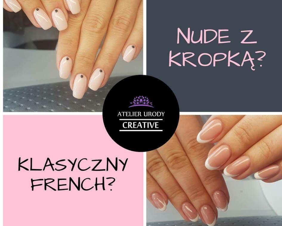 Stylizacja paznokci nude french