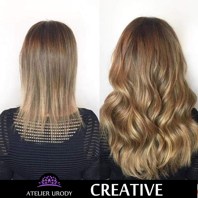 Przedłużanie włosów przed i po
