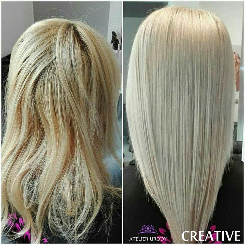 Koloryzacja i keratynowe prostowanie włosów